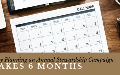 Plan An Annual Stewardship Campaign
