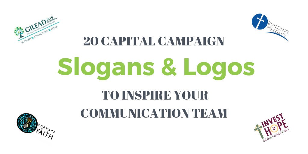 Slogans and Logos of church capital campaigns